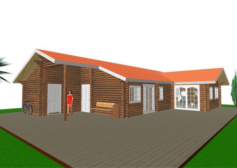 Konvesta – Rąstinių namų gamyba, statyba ir įrengimas gamina gyvenamuosius rąstinius namus, pirtis, poilsio ir sodo namelius, pavėsines.  |  Horsews 114Kv.m