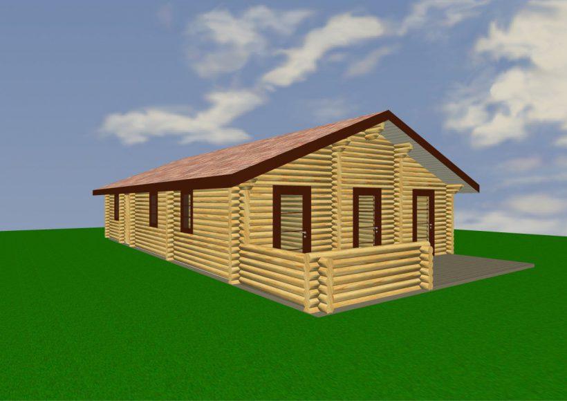 Konvesta – Rąstinių namų gamyba, statyba ir įrengimas gamina gyvenamuosius rąstinius namus, pirtis, poilsio ir sodo namelius, pavėsines.  |  Parcel 91