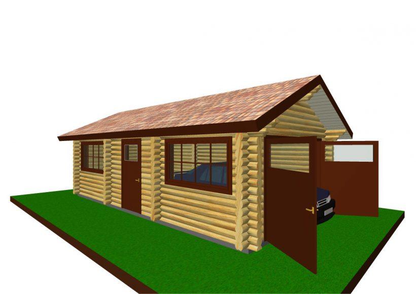 Konvesta – Rąstinių namų gamyba, statyba ir įrengimas gamina gyvenamuosius rąstinius namus, pirtis, poilsio ir sodo namelius, pavėsines.  |  Garazas 1