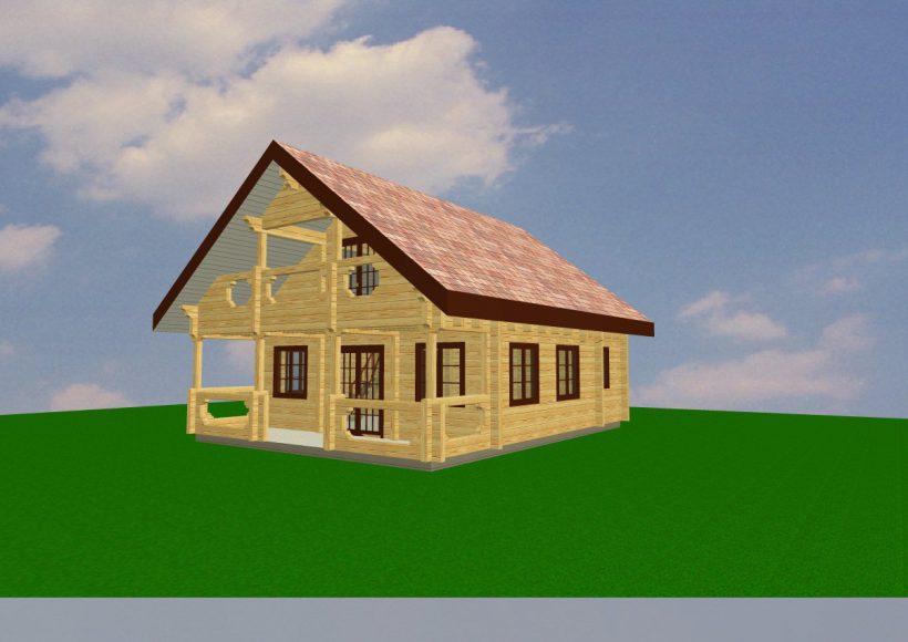 Konvesta – Rąstinių namų gamyba, statyba ir įrengimas gamina gyvenamuosius rąstinius namus, pirtis, poilsio ir sodo namelius, pavėsines.  |  Maison 2