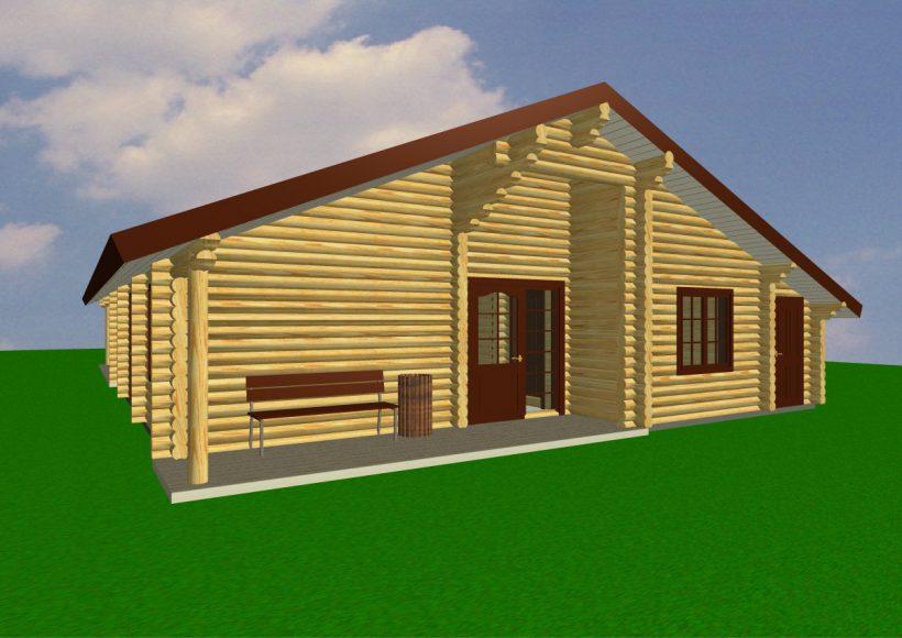 Konvesta – Rąstinių namų gamyba, statyba ir įrengimas gamina gyvenamuosius rąstinius namus, pirtis, poilsio ir sodo namelius, pavėsines.  |  Gerda 191Kv.m