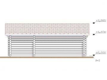 Projektas Garazas 2 24Kv.m