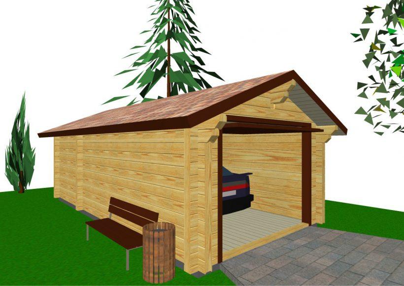 Konvesta – Rąstinių namų gamyba, statyba ir įrengimas gamina gyvenamuosius rąstinius namus, pirtis, poilsio ir sodo namelius, pavėsines.  |  Garazas 2 24Kv.m
